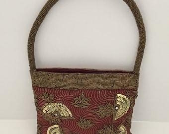 Evening Bag, Beaded Purse, Vintage Purse, Beaded Bag, Beaded Evening Bag, Vintage Beaded Purse, Beaded Bag Vintage, Beaded Purse Antique