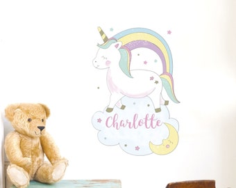 Personalised Unicorn Wall Art for Young Children