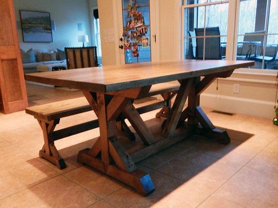 Atlanta Farm Tables Chavers X Trestle Table Rustic X Table