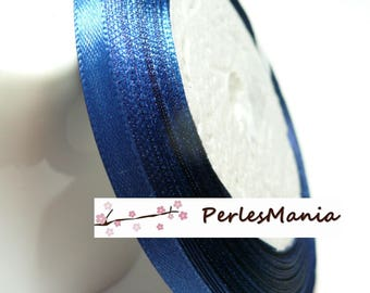 Special offer: 1 roll of blue satin ribbon 22 night PY028 6 mm