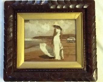 Woman ashore