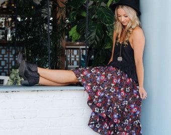 Wild flower frill skirt