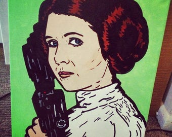 R.I.P. Princess - Canvas Painting By Jonny Tansey