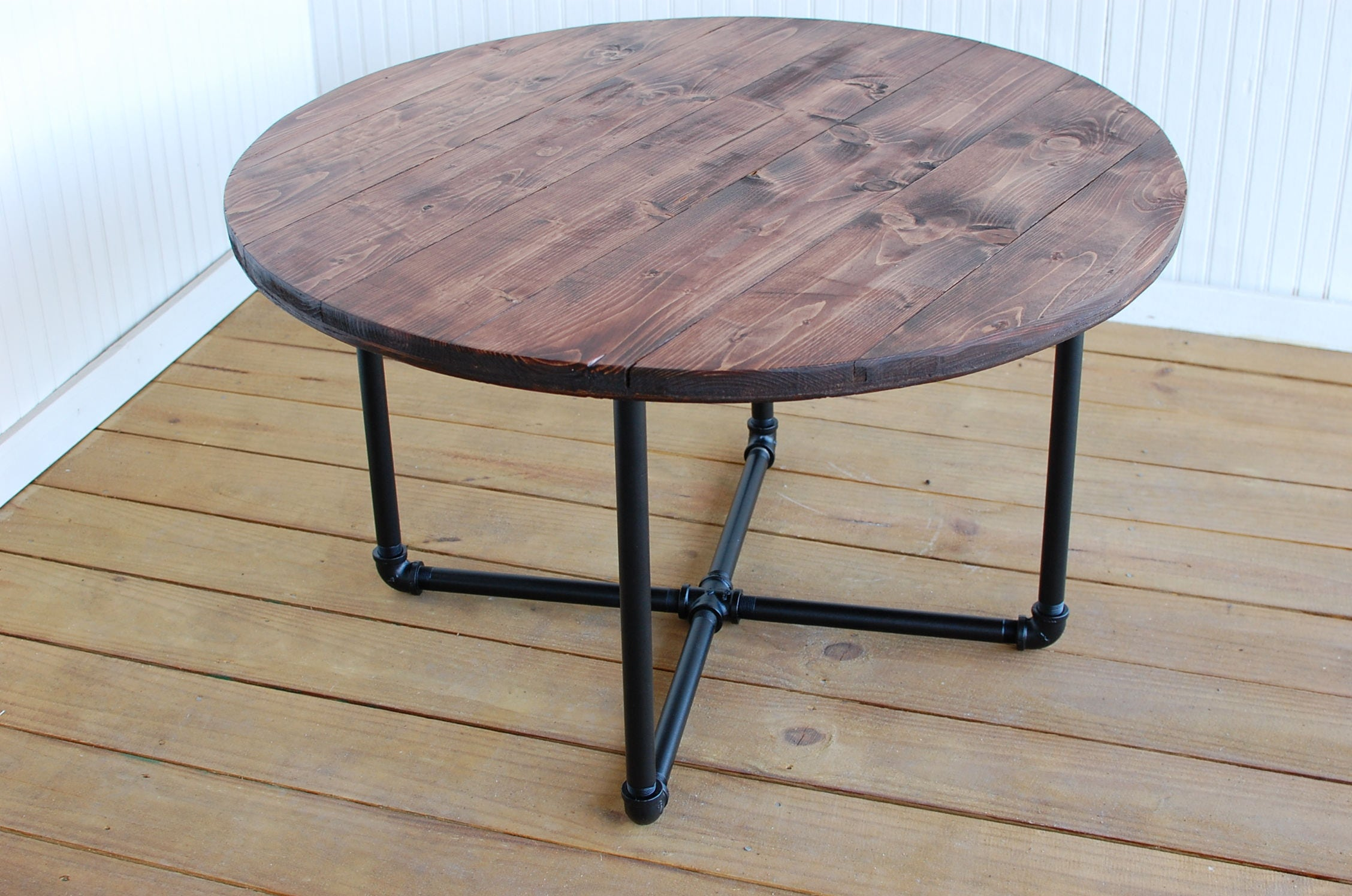 Round Industrial Coffee Table Round Coffee Table Reclaimed