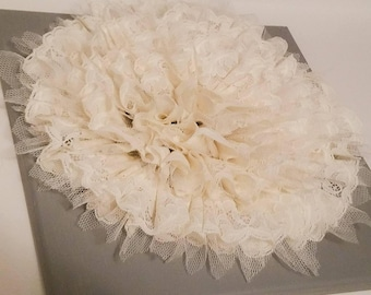 Lace & Tulle Flower - Wall Decor