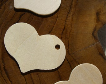 Unfinished Wooden Tags - Great for Gift Tags - 2 1/4 x 1 1/4 inch  Wedding Christmas Gifts Packaging