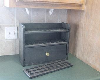 Essential Oil Storage Shelf-90ct with a drawer - Cody-dwr