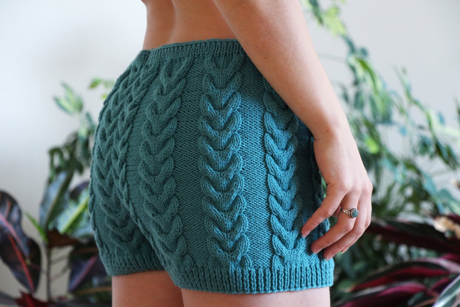underwear knit fashion knitted shorts merino wool warm