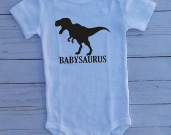 Babysaurus Bodysuit, Dinosaur Bodysuit, Dino, Baby Bodysuit, Toddler Shirt