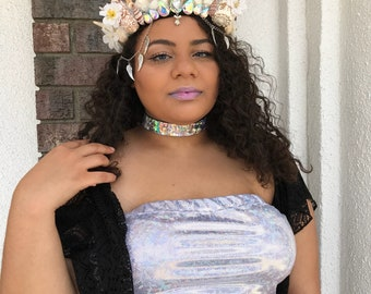 Shell garden crown angel wing crown