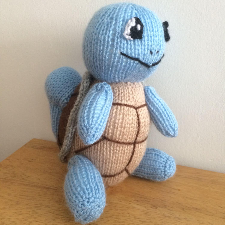 Squirtle toy knitting pattern pokemon plushie animal knit pattern ...