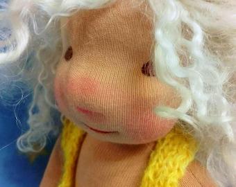SOLD !!!! Waldorf doll, Art dolls, Wool hair, Organic doll, waldorfinspired,handmade , personalised , clothdoll , sotf toy, birthdaygift