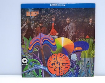 Bee Gees Vinyl Record Vintage 1967 1st Album Maurice Barry Robin Gibb Psychedelic Dance Disco Band Klaus Voormann album cover artwork 60's