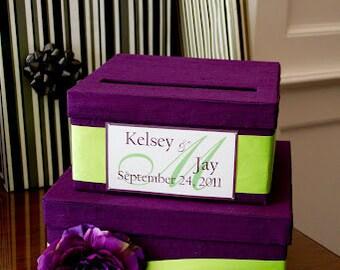 Royal Blue Card Box / Wedding Card Holder / Card Box with Slot