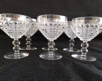 Ancestral-Clear by NEW MARTINSVILLE AKA Thousand Eye Set of 6 Cordial Glasses