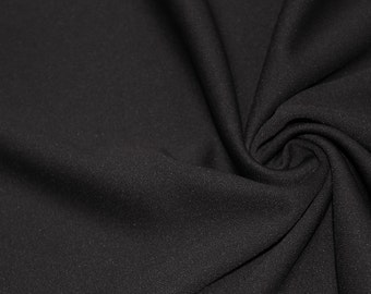 Black 60'' Solid Stretch Scuba Knit Fabric by the Yard - Style 3044