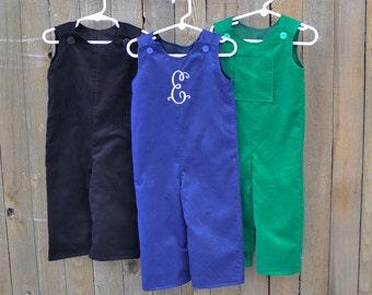 Baby Boy Clothes, Corduroy Longalls.. Red, blue, Gray, Brown...3m,6m,9m,12m,18m,2t,3t