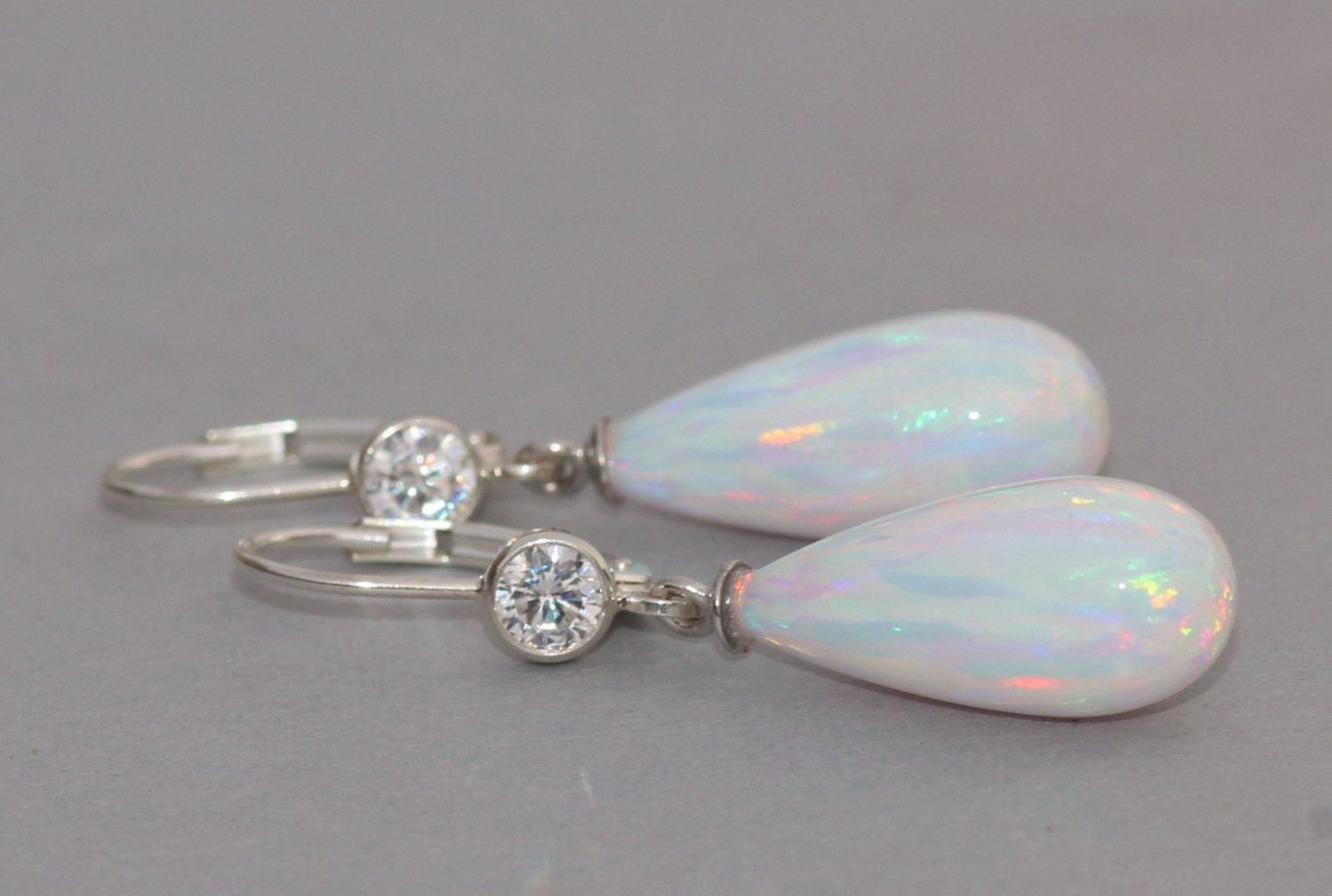 and earrings rough opal nugget real genuine pin