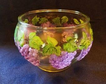 Grape Motif Punch Bowl