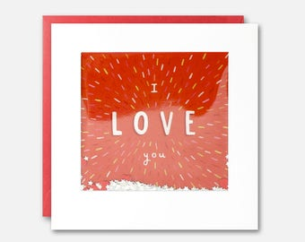 I Love You Explosion Shakies Card by James Ellis