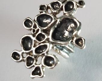 Original ring. Silver Ring. Striking ring. Jagged ring. Modern ring. Striking ring. Silver ring. Original Ring. Modern Ring