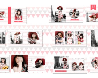 photography album template, digital product, 20 pages digital files