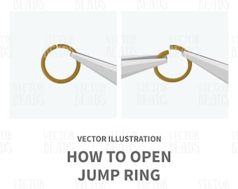 How to Open Jump Ring Vector Illustration - Instant Download
