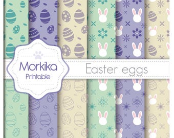 Digital Paper Easter Eggs