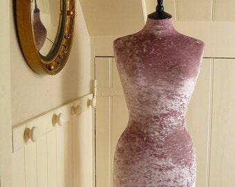 Luxury Crushed Velvet Mannequin Dressform COVER ONLY - Blush