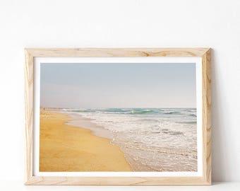 Beach Print, Large Wall Art Prints, Coastal Wall Art, Ocean Print, Coastal Prints, Downloadable Art, Ocean Art, Water, PRINTABLE Art