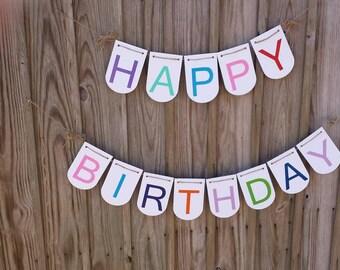 Happy Birthday, Banner, Birthday Banner, Photo Prop, Homemade