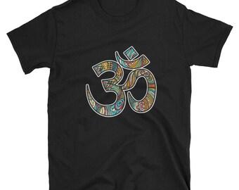 Hand drawn om symbol Ladies' shirt, yoga om shirt, om symbol shirt, om shirt, om shirt, om shirt