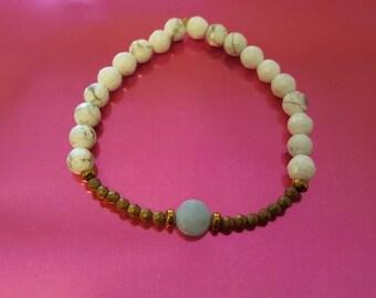 Henri howlite bracelet