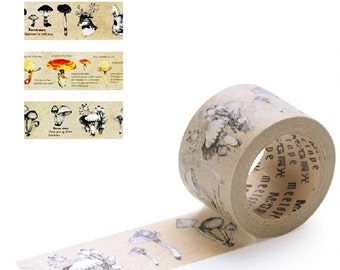 M411 Forest Story Masking Tape Meetape (Choose Design Yourself), 3cm x 10m masking tape, kraft paper tape, jungle masking tape, journalling