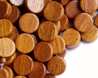 Wood Bead, Coin 15mm, Bayong - 16 Inch Strand (WDCN-15BY)