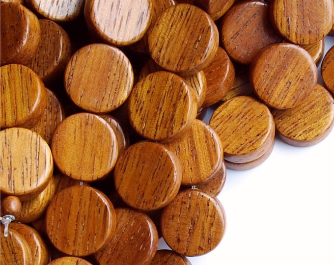 Wood Bead, Coin 15mm, Bayong - Five 16 Inch Strands (WDCN-15BY)