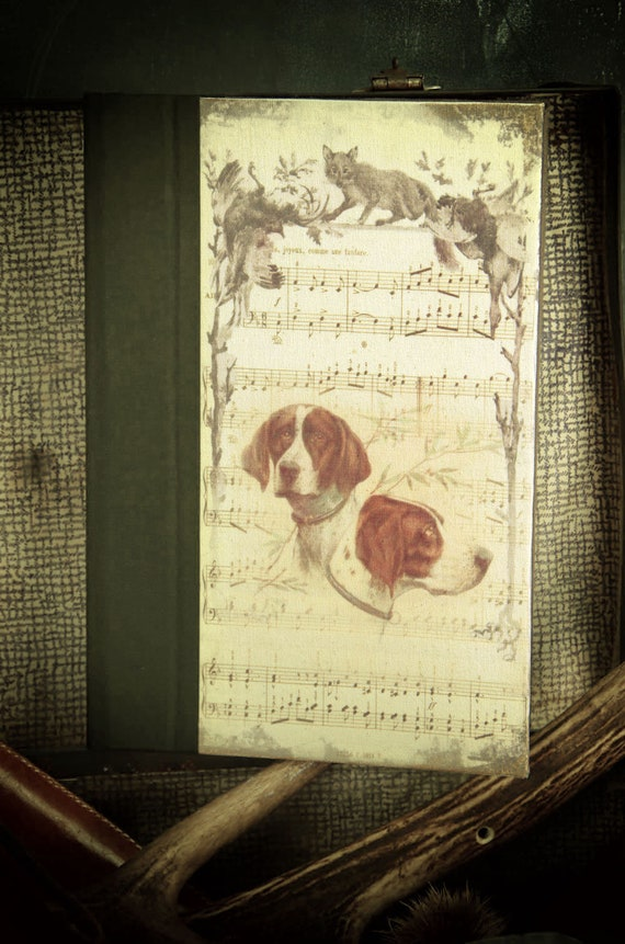 "Hunting hunting hunting custom journal ""hound dog"" notebook Huntress Hunter hunting hunting hunting wood"