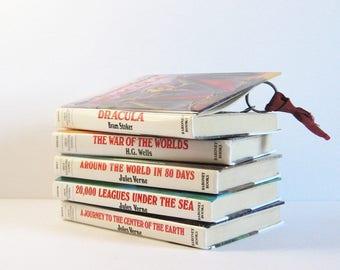 1 Secret Book Safe - Adventure Storybook Hidden Compartment Hollow Book Box Secret Stash Box - Jules Verne - HG Wells - Bram Stoker Dracula