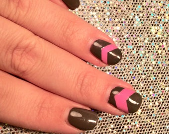 81 chevron decals/stencils for nail art. French manicure, nail stencil, nail decal, nail vinyl, nail sticker, stencils, nail guides, boho