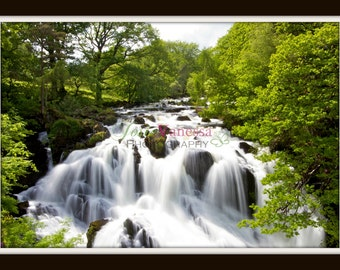 Swallow Falls, Waterfall, North Wales Art Print Photography Various Sizes