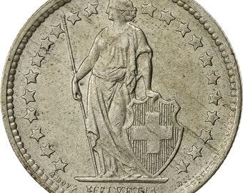 switzerland 1/2 franc 1962 bern au(50-53) silver km23