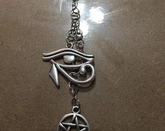 Eye of Horus/Pentagram Keychain