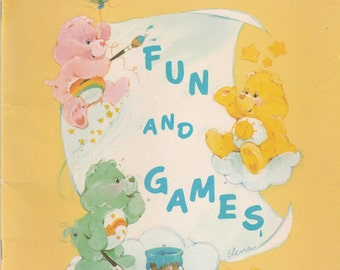 Vintage The Care Bears Fun and Games Coloring Book 1984