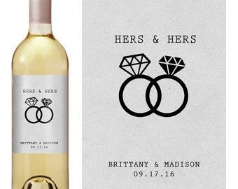 Gay Wedding Wine Label - Custom Wine Label - Personalized Wine Label - Gay Wedding - Gay Wedding Gift - Same Sex Marriage