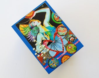 Bohemian Jewelry Box, Decorative  Jewelry box, Boho  Jewelry box