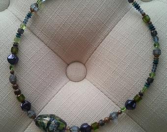 Celestial beaded necklace