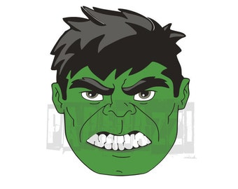 Hulk SVG Electronic cutting files for Cricut Design Space - Silhouette Studio - MTC - SCAL