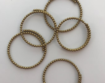 Gold Pyrite Beaded Wire Wrap Bangles