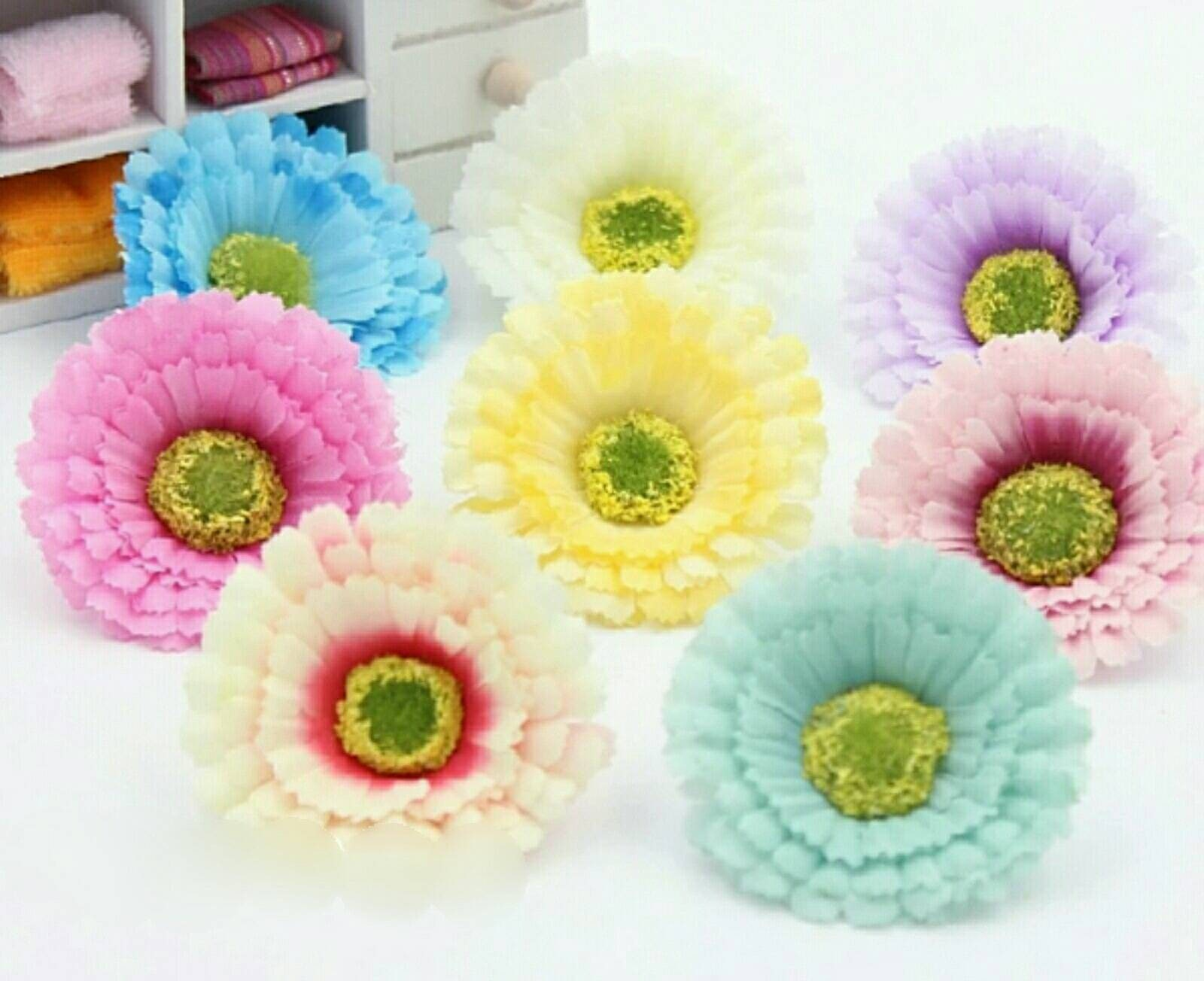 Fake Daisy Flowers Head For Crafting Purposes