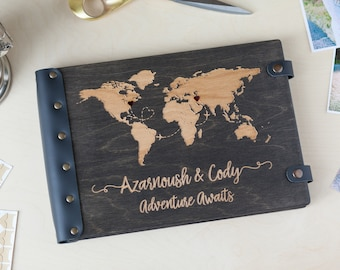 Photo Album, Wedding Album, Travel Photo Album, Wedding Photo Album, Wood Photo Album, Wooden Photo Album, Our Adventure Book, Travel Album